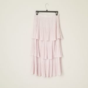 NEW Pleated tiered flowy maxi skirt